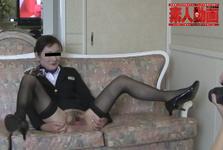【素人動画】不倫情事を重ねる熟年カップル!! こだわりのスチュワーデス制服で性欲開放するコスプレハメ撮り