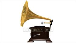 映像CG 蓄音機 レコードプレーヤー120425-002