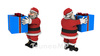 Santa Claus FHD, set of 4