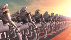 Image CG robot parade Robot Marching