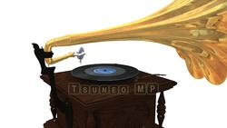 映像CG 蓄音機 レコードプレーヤー120426-001