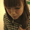 Japanese girl spit! 003