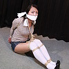 Bondagettes in White Over-knee-socks 2 - Mana Kaneshiro - College Girl Bound and Gagged - Chapter 2