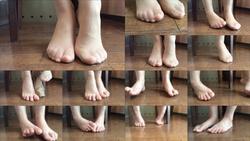 【身体のパーツ・フェチ:足/脚】打ち合わせ中のモデルの足/脚3(アップ)@素人美人モデル個人撮影会