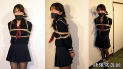 Sayaka School Girl in Black Pantyhose is Stuffedgagged