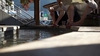 とある温泉郷の足湯