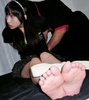 Feet soles tickling pictures of Akane