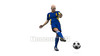 映像CG サッカーのシュートシーン120402-001