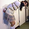 Sayaka School Girl in White Highsocks is Stuffedgagged