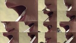 歯ブラシになりたい(外部から撮影)【フェチ:口・唇・舌・唾液・ベロ・ツバ・歯の超アップ映像】